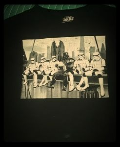 STAR WARS vintage original graphic 2X black tshirt